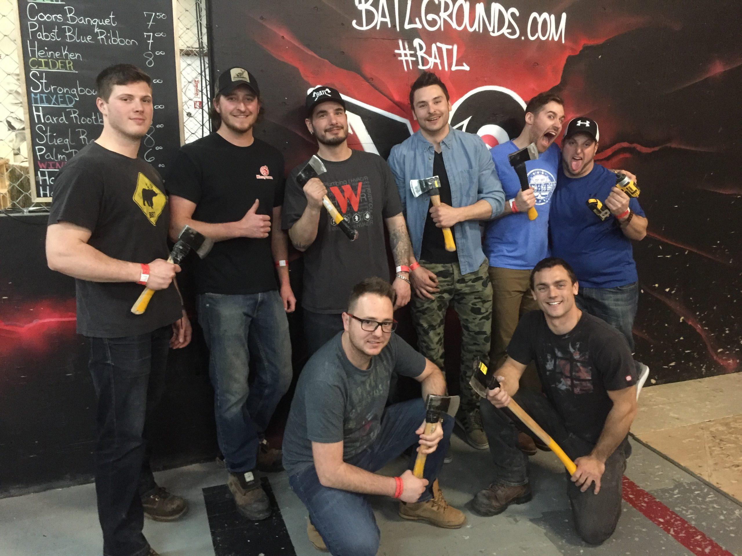 Team building event – BATL Axe Throwing